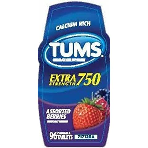 Tums Calcium Rich Extra Strength 750 - Assorted Berry - 116 Tablets by (Extra Strength Calcio)