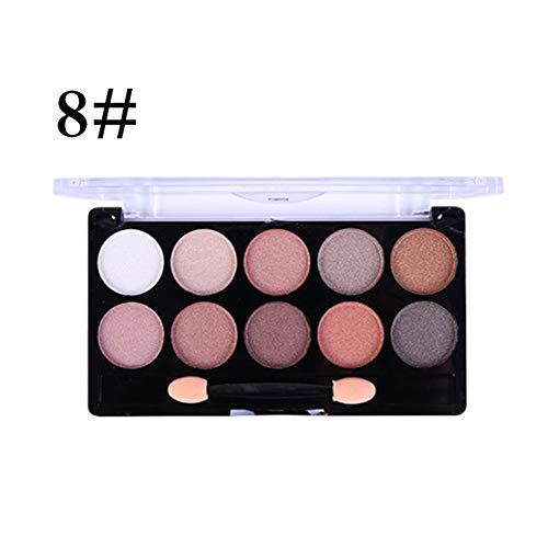 Ofanyia Palette de fard à paupières 10 couleurs chatoyantes paillettes Palette de maquillage longue durée imperméable à l'eau