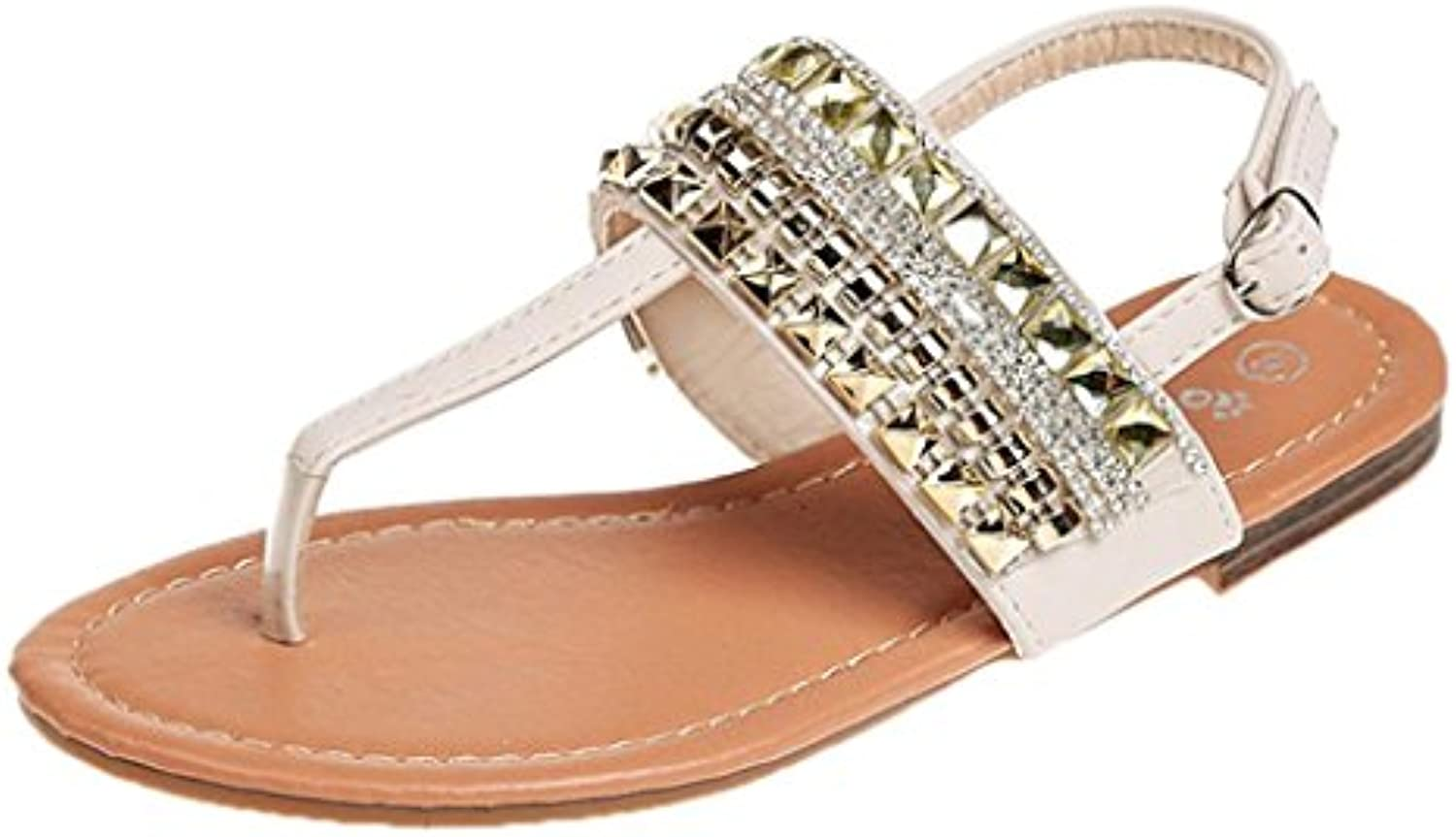 Women Women Women Summer Sandals,Brezeh Women's Summer Bohemia Beaded Sandals Clip Toe Flip Flop Sandals Casual Gladiator... 9313b5