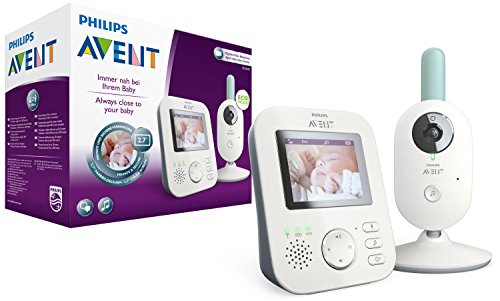 Philips Avent Video-Babyphone SCD620/26, 2,7 Zoll Display, ECO-Mode, 10 Std. Akku, weiß-türkis
