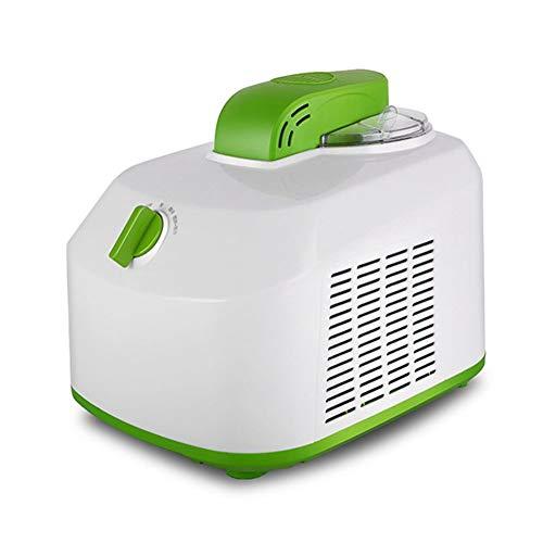 Hopelj macchina per gelato autorefrigerante gelatiera e yogurtiera con compressore 150w, 1l secchiello per gelato in alluminio con funzione mantenimento del freddo, verde