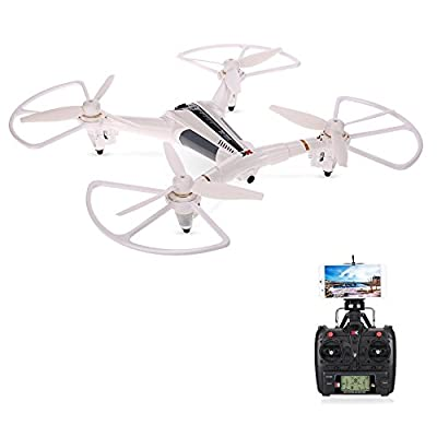 JXJ XK X300-W WIFI Drone Quadcopter, 2.4G 5CH 6-Axis Gyro Brushed RC Drone with 720P Wide Angle Camera FPV Optical Flow Positioning RC Quadcopter Drone by JXJ