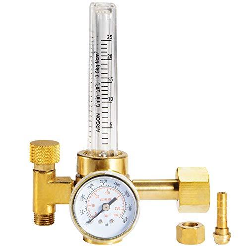 Kreema Argon CO2-Druckminderer Ventil-Durchflussmesser-Messgerät Mig-Schweißen 0-280 Bar 0 bis 4000 psi Manometer