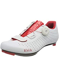 Fizik OverCurve R5 - Zapatillas de Ciclismo Unisex para Adulto, Unisex Adulto, TPR5OCMI2, Bianco Rosso, 48 EU