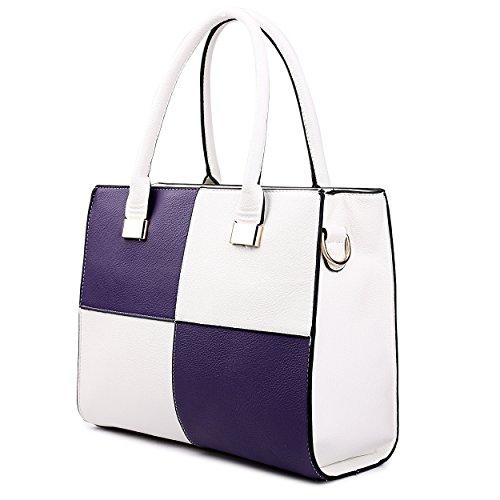 Miss Lulu , Cabas pour femme 1504 Purple&White