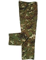 MFH Hombre Pantalones de combate US BDU Cremallera Stop - vegetato, S