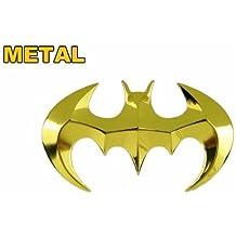 Tinkerbell Trinkets oro® BATMAN-Adesivo per auto, Emblema 3D in metallo resistente, forte e di alta (Emblema Del Metallo)