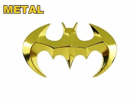 Tinkerbell Trinkets® Gold Batman Auto Emblem Badge Aufkleber 3D Hard massivem Metall, schwere und hohe (Emblema Del Metallo)