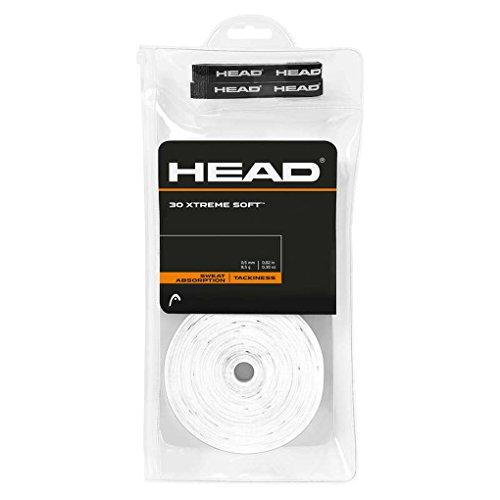 30 Overgrip Head Xtreme Soft Tennis Grips bianco