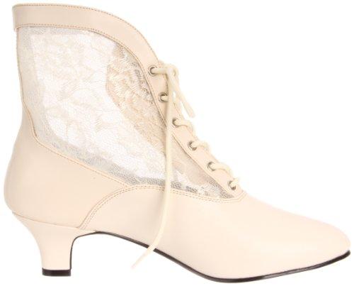 Pleaser - Dame05/B/Pu, stivaletti  da donna Bianco (Ivory Pu Lace)