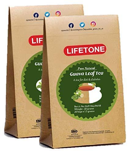 Té de hoja de guayaba | 100% puro de trópico | Té de desintoxicación para bajar de peso rápido | 40 bolsitas de té