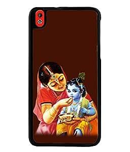 PrintVisa Designer Back Case Cover for HTC Desire 816 :: HTC Desire 816 Dual Sim :: HTC Desire 816G Dual Sim (Culture Hinduism Mythology Epic Flute Illustration)