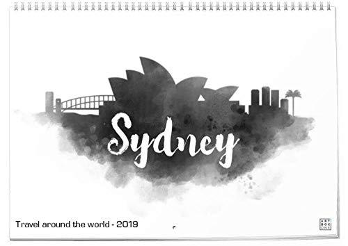 artboxONE Klapp-Kalender 2019 Travel Around The World Klapp-Kalender A3 Städte
