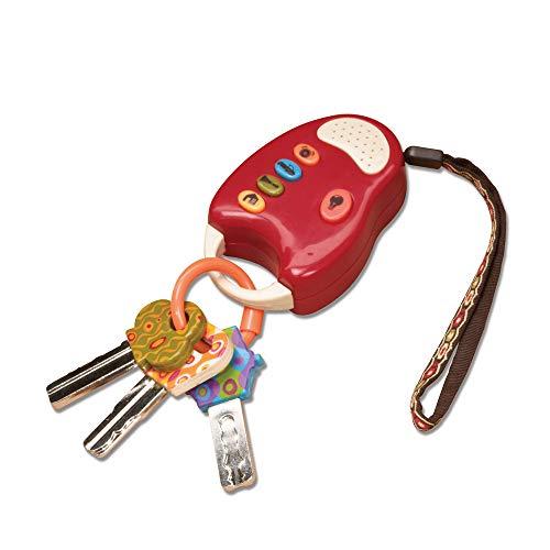 B. toys - Funkeys - Bunte Spielzeugschlüssel für Kinder und Babys - Autoschlüssel Spielzeug mit rotem Licht und Geräuschen - 100% Schadstofffrei