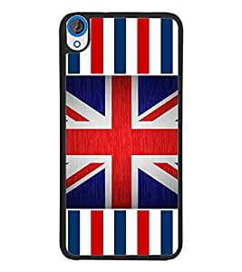 PrintDhaba UK Flag D-3181 Back Case Cover for HTC DESIRE 820 (Multi-Coloured)