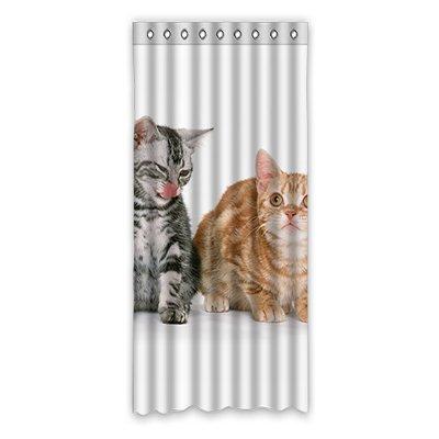 Fenster-vorhang 108 Rod (dalliy Custom Funny Cat Fenster Vorhang Polyester 127x 274,3cm über 127cm x 275cm (One Piece), Polyurethan, e, 50