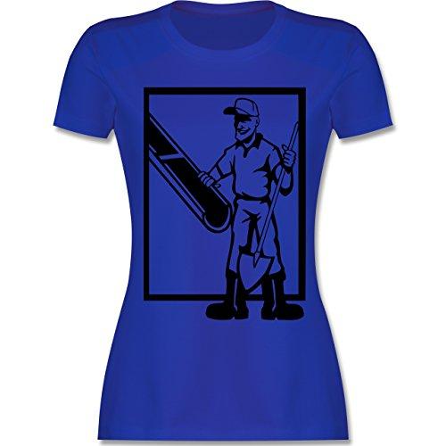 Handwerk - Betonmischer - tailliertes Premium T-Shirt mit Rundhalsausschnitt für Damen Royalblau
