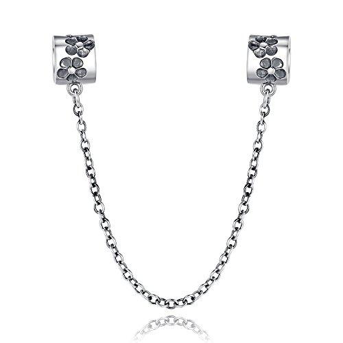glamulet Sports Damen 925Sterling Silber Blumen Sicherheitskette passend für Pandora Charme