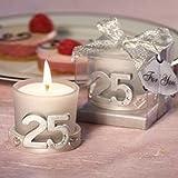 10x Kerzen Silberhochzeit–Details und Erinnerungen Jahrestag Silberhochzeit