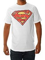 Junk Food Clothing Men's Distressed Superman Short Sleeve T-Shirt