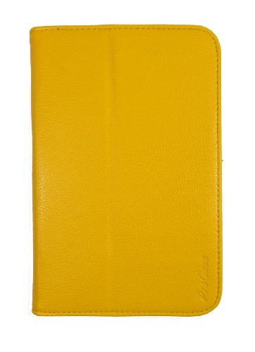 ProCase Galaxy Tab 2 7.0 Case Ultra Slim Folio Leather Case Cover for Samsung Galaxy Tab 2 7.0 GT-P3113 Tablet (Yellow Flip Stand)