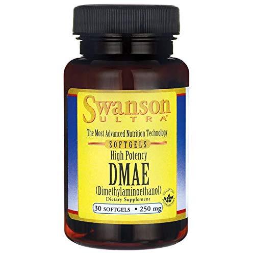 Swanson Ultra, DMAE 250mg, 30 Softgel-Kapseln - Intellektuelle Leistung, Speicher & Konzentration (High Potency Dimethylaminoethanol softgels capsules)