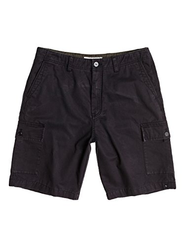 Quiksilver, Pantaloni corti cargo Uomo Everyday, Grigio (Tarmac), 31