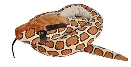 Jumbo Plüschschlange Burmesische Python, Tigerpython Kuscheltier, 280 cm, Multi ()