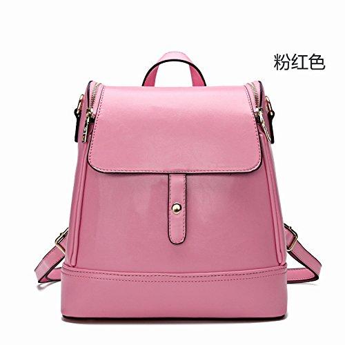 Mefly Nuova Lady Borsa Stile Coreano Borsa A Tracolla Ladies Viaggi Moda Rétro Rose Red Pink