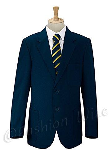 Uniforme de colegio Russel para niñas y niños, chaqueta blazer estilo formal, colores azul naval, verde botella, bermellón (tamaños de pecho 61-132cm) Azul azul marino 36 cm (Edad 13-14 Años)