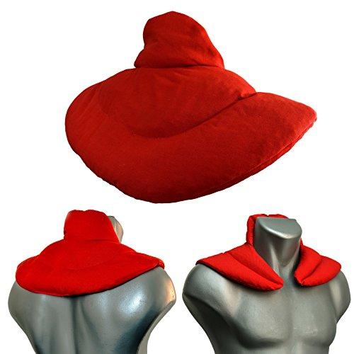 Nackenhörnchen mit Stehkragen Bio-Stoff rot   Rapssamenkissen   Nackenkissen Wärmekissen - Ein sehr wohliger Nackenwärmer (Korn-kern)