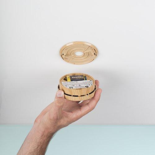 Smartwares 5-Jahres Rauchwarn-/ Brandmelder, DIN EN14604, holzoptik, RM149H-5 - 7