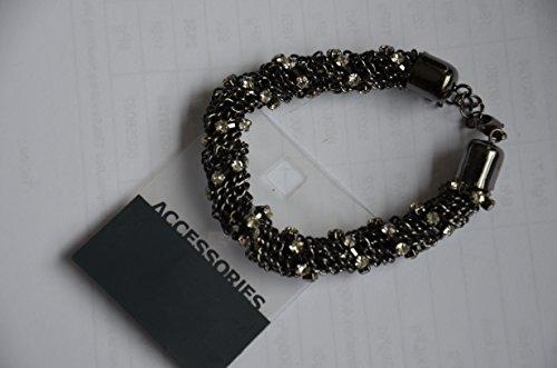 Armreif Armband Armkette in Kettenoptik Farbe: Schwarz mit Glitzersteine Armband für Damen. Ein tolles Highlight für jedes Outfit.