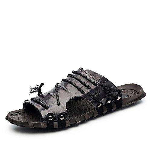 Xing Lin Chaussures D'Été Hommes L'Été, Hommes Sandales Pour _ Mot Chaussons Grande Taille Nouveau Sandales Hommes Sandales XGZ7551 black