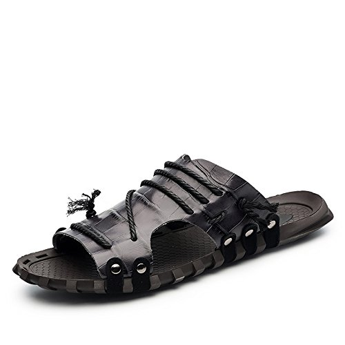 Xing Lin Beach Flip Flop Uomini Sandali _ Estate Parola Pantofole Di Grandi Dimensioni Sandali Nuovi Uomini Sandali XGZ7551 black