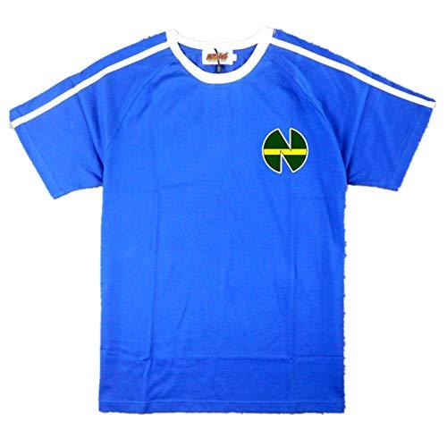 Anime Captain Tsubasa Nankatsu School No. 10 Ozora Tsubasa Fußball-T-Shirt Cosplay Tee - Blau - X-Large