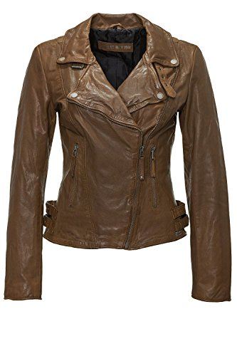 Freaky Nation Damen Lederjacke FN19315 Dingo M