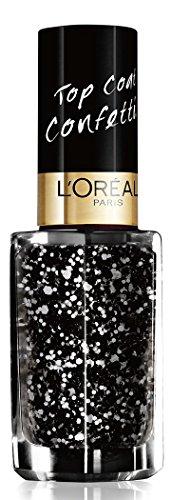 L'Oréal Paris Color Riche Le Vernis Top Coat Confettis Glitzer Nagellack/Glänzender Überlack mit...