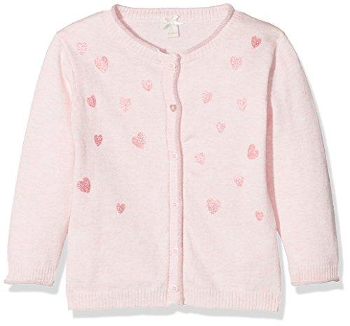 ESPRIT Baby-Mädchen Strickjacke RL1801112, Rosa (Tinted Rose 331), 80 (Strickjacke Print-gerippte)