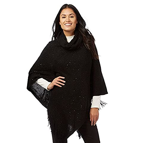 The Collection Womens Black Sequin Poncho