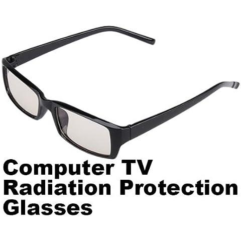 Vktech - Occhiali per PC e TV di protezione, anti-affaticamento e anti radiazioni