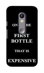 KnapCase First Bottle Expensive Designer 3D Printed Case Cover For Motorola Moto G (3rd Generation)