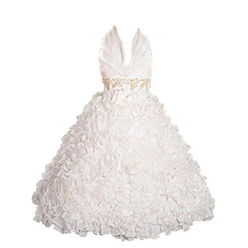 Lito Angels Mädchen Kleid Gr. 3-4 Jahr, gebrochenes weiß