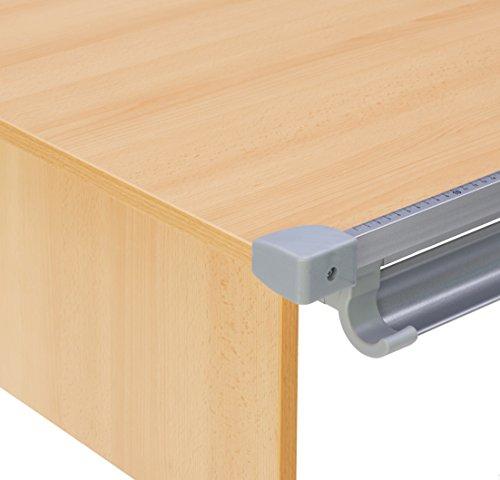 Kettler Kids Comfort ll Schülerschreibtisch – 6-fach höhenverstellbarer Kinderschreibtisch MADE IN GERMANY – flexible Tischplatte – höhen- und neigungsverstellbarer Schreibtisch – Buche & silber - 4
