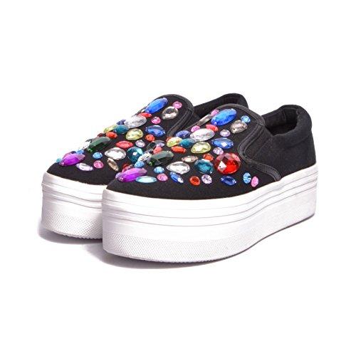 KAWASAKI, unisexe–Adulte Chaussures Black/White