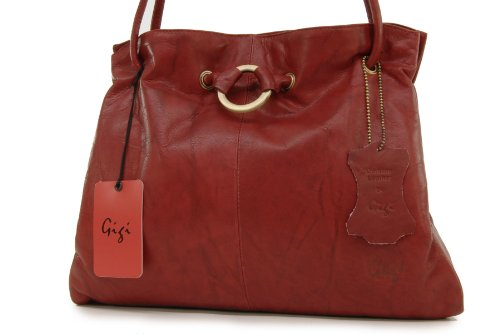 Borse a spalla di Gigi in pelle - Othello 4323 Rosso