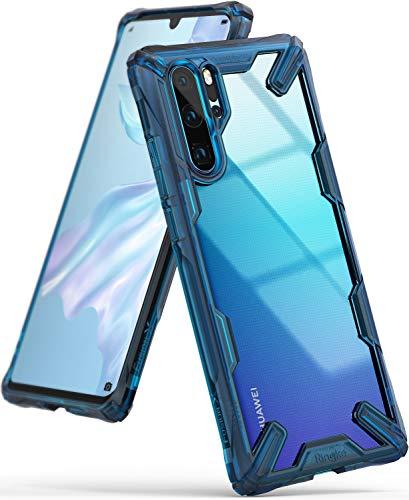 Ringke Fusion-X fürs Huawei P30 Pro Hülle, Transparente Kratzfeste Rückseite mit Flexibel TPU Stoßfester Rahmen Schutzhülle - Space Blue Blau