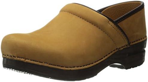Dansko Professional Zuecos de Piel para mujer - Wheat Nubuck Leather
