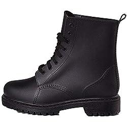 14b649aa6 Zapatos de Lluvia para Hombre Zapatos Martin para Hombre Zapatos Cortos con  Cordones Zapatos de Lluvia