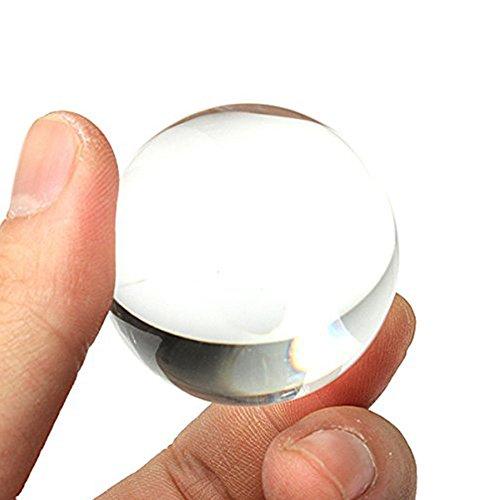 Glaskugel (Jooks Wunderschöne Kristallkugel aus Glas Glaskugel Glaskugeln für die Fotografie oder als Dekoration 30mm-40mm)
